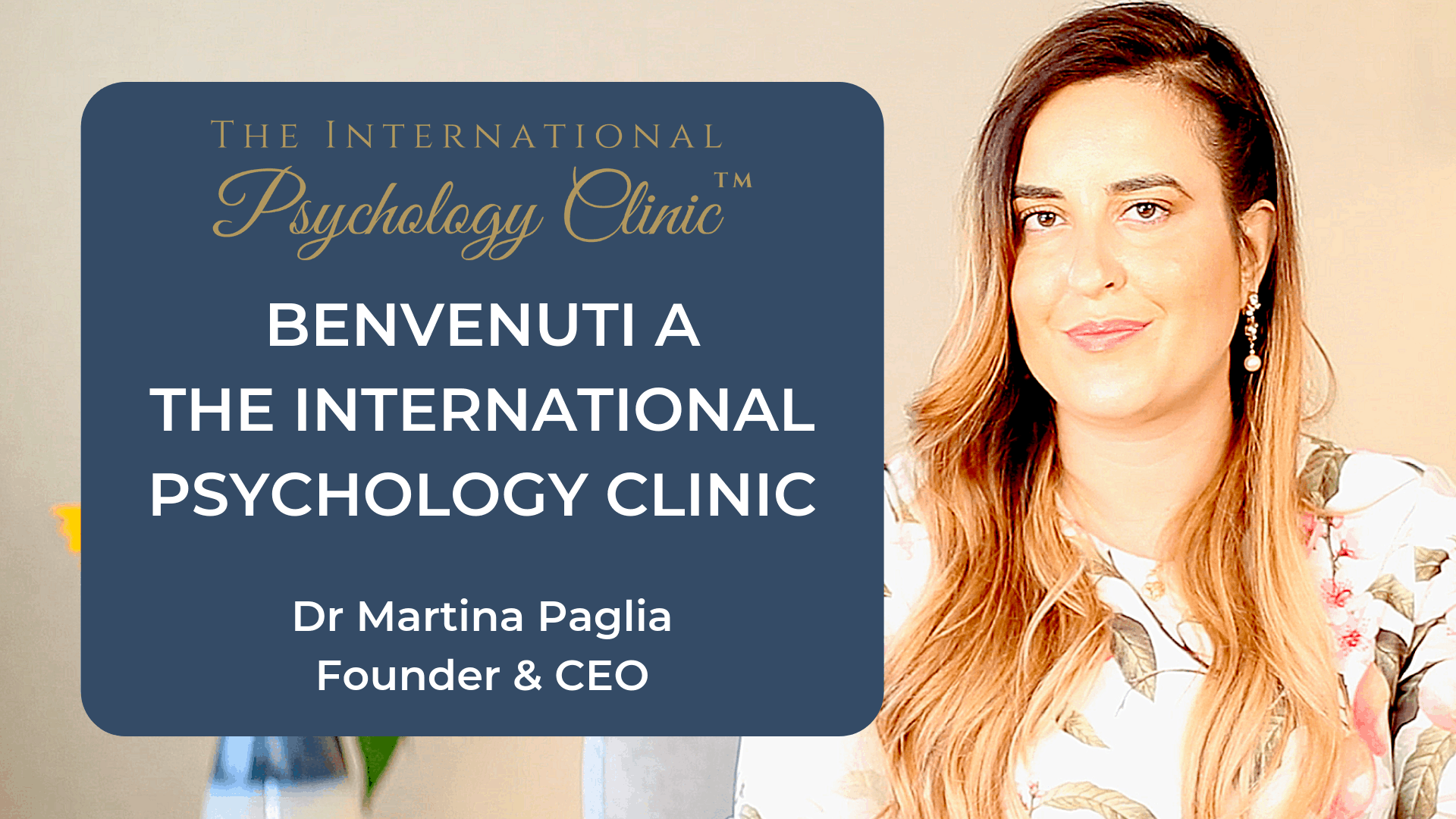 benvenuti a the international psychology clinic