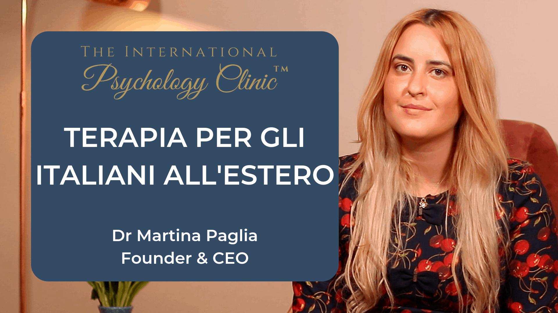 terapia per gli italiani all'estero